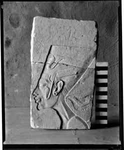 A sculptor's trial piece with an image of Nefertiti. Courtesy of the Egypt Exploration Society