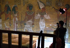 The burial chamber of the tomb of Tutankhamun