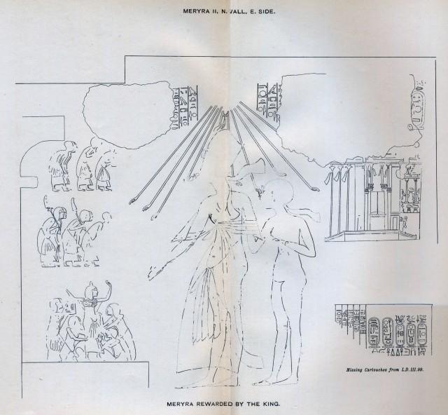Davies, Rock Tombs II, pl XLI Smenkhkare & Meretaten COMPOSITE 200dpi